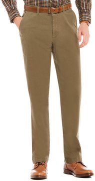 Roundtree & Yorke Casuals Flat Front Washed Chino Pants