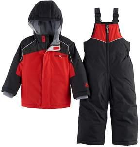 ZeroXposur Toddler Boy Heavyweight Colorblock Jacket & Bib Overall Snow Pants Set
