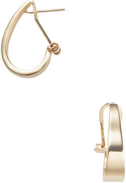 Candela Women's 14K Yellow Gold Small J Hoop Earrings