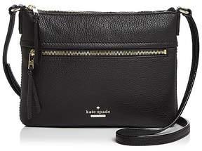 Kate Spade Jackson Street Gabriele Leather Crossbody - BLACK/GOLD - STYLE