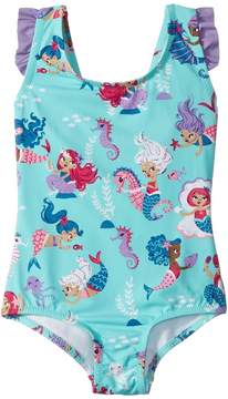 Hatley Underwater Kingdom Ruffle Swimsuit Girl's Swimsuits One Piece