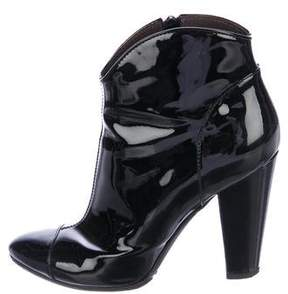 Burberry Patent Leather Pointed-Toe Booties