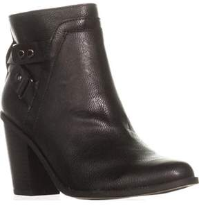 Bar III B35 Dove Block Heel Casual Ankle Booties, Black.