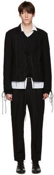 Haider Ackermann Black Lace-Up Blazer