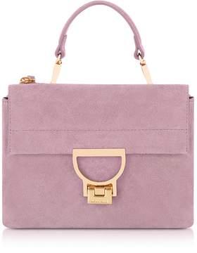 Coccinelle Mauve Suede Arlettis Mini Bag w/Shoulder Strap