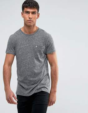 Jack Wills Ayleford Slim Fit Pocket T-Shirt In Gray Marl