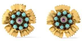 Elizabeth Cole Gold-Tone Stone Earrings
