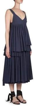 Cédric Charlier V-Neck Tank Midi Dress