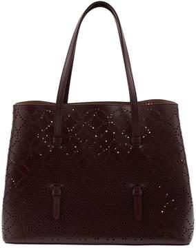 Alaia Burgundy Leather Handbag