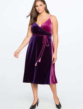 ELOQUII Velvet Wrap Dress