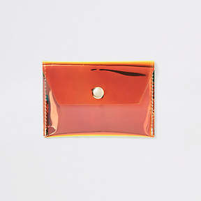 River Island Gold holographic perspex coin purse