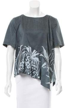 Suno Printed Asymmetrical Top