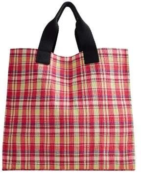MANGO Jute squared bag