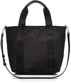 Tory Burch Quinn Small Zip Tote - BLACK/GOLD - STYLE