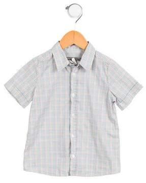 Bonpoint Boys' Short Sleeve Button-Up Shirt