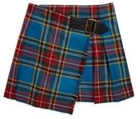 Burberry Little Girl's& Girl's Klorrie Plaid Wool Skirt