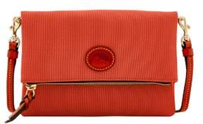 Dooney & Bourke Nylon Foldover Zip Crossbody Shoulder Bag - TOMATO - STYLE