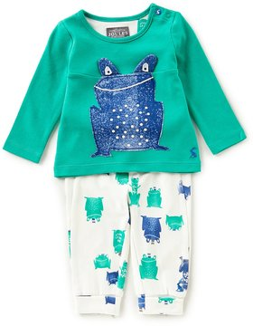 Joules Baby Boys Newborn-24 Months Frog Shirt & Patterned Pants Set