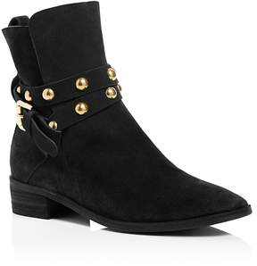 See by Chloe Women's Janis Suede Studded Strap Low Heel Booties - 100% Exclusive