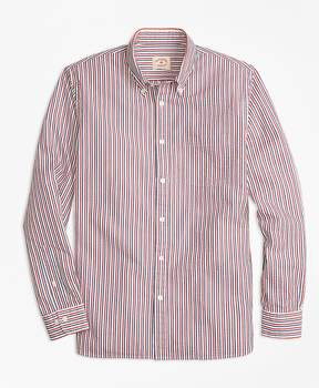 Brooks Brothers Stripe Cotton Seersucker Sport Shirt