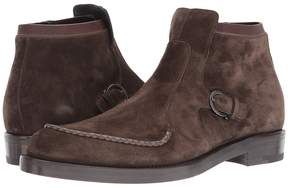 Salvatore Ferragamo Donovan Suede Boot Men's Shoes