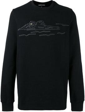 Markus Lupfer embroidered crocodile sweatshirt