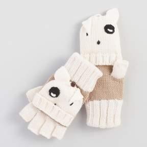 World Market Ivory Dog Convertible Gloves