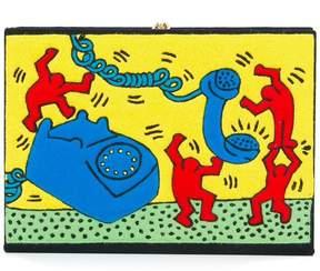 Olympia Le-Tan x Keith Haring clutch bag