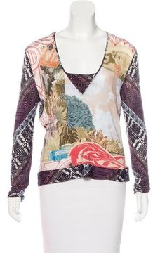 Christian Lacroix Printed Knit Top