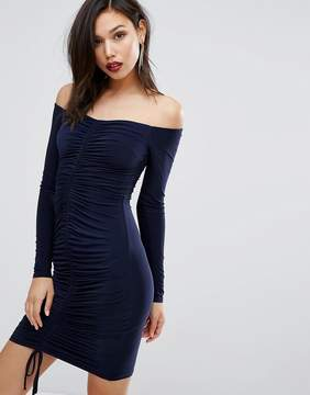 Club L Ruched Gathered Detail Dress