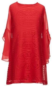 My Michelle Big Girls 7-16 Chiffon Crochet Dress