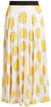 Christopher Kane Sun-print pleated cady skirt