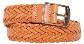 A.P.C. Men's Brown Leather Belt.