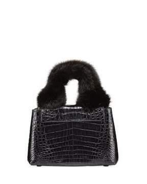 Nancy Gonzalez Mini Mink Fur Knot Handle Bag