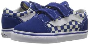 Vans Kids Old Skool V True Blue/White) Kid's Shoes