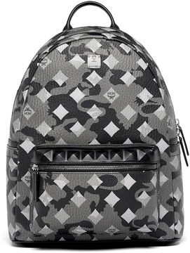 MCM Stark Backpack In Munich Lion Camo