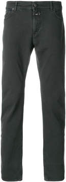 Closed tailored fitted trousers