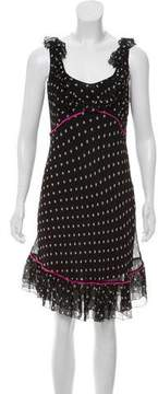 Blugirl Silk Polka Dot Print Dress