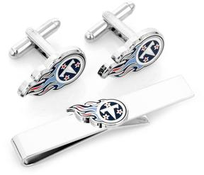 Ice Tennessee Titans Cufflinks and Tie Bar Gift Set