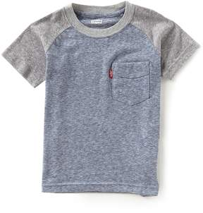 Levi's Little Boys 2T-7 Raglan-Sleeve Pocket Tee