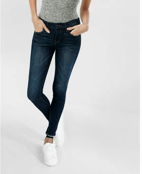 Express dark mid rise stretch jean leggings