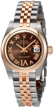 Rolex Lady Datejust Chocolate Diamond Dial Automatic Watch