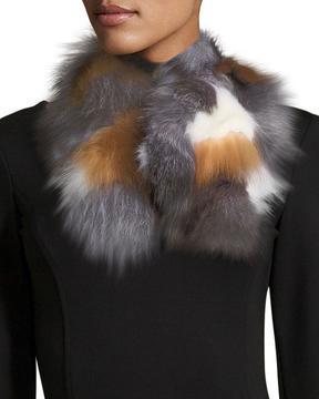 Adrienne Landau PATCHWORK FOX MAGNET SCARF