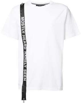 Mostly Heard Rarely Seen logo stripe T-shirt