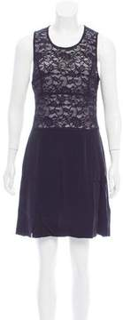 Christian Lacroix Lace-Accented Mini Dress