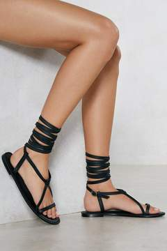 Nasty Gal That's a Wrap Leather Sandal