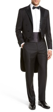 Hickey Freeman Men's Classic B Fit Tasmanian Wool Tailcoat Tuxedo