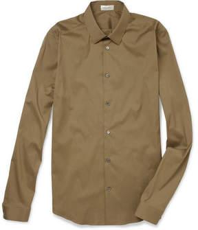 Balenciaga Slim-Fit Cotton-Blend Poplin Shirt