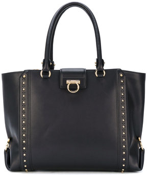 Salvatore Ferragamo large studded Gancio tote bag