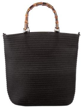 Gucci Vintage Bamboo Tote - BLACK - STYLE